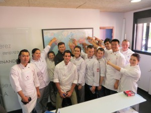 "picture of students from ""Day Of Spain"" event at Seattle Central Culinary Event"