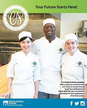 Seattle Culinary Academy at Seattle Central College brochure